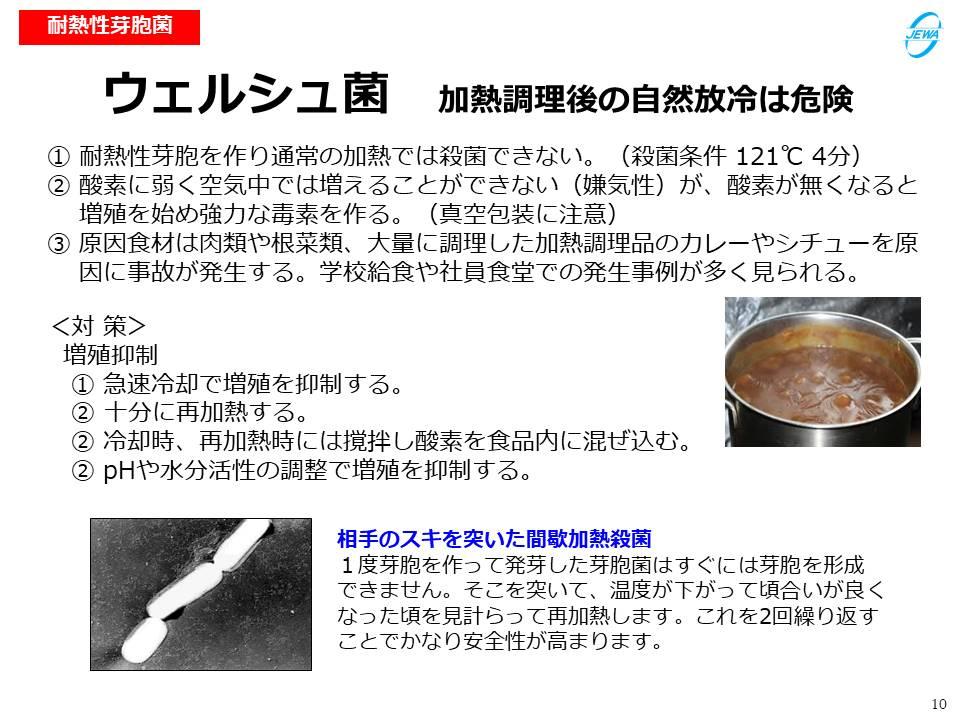 ウェルシュ菌 加熱調理後の自然放冷は危険